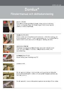 Domlux - Fönstermanual och skötselanvisning