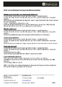Drift och skötsel innerdörrsnickerier - Snickeriportalen