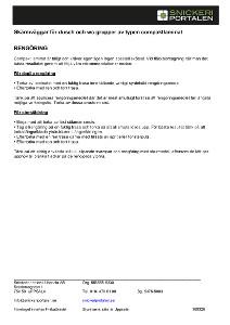 Drift och skötsel skärmväggar av kompaktlaminat - Snickeriportalen